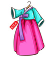 A simple dress for sale vector image vector image