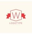 Abstract W vintage logo design elements set vector image