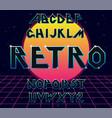 alphabet 80 s retro font vector image vector image