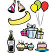 Birthday Party Set vector image vector image