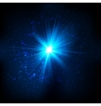 Blue shining cosmic flash vector image
