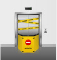 broken elevator realistic broken lift closed for vector image vector image