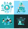 Business Insurance Concept Icons Set vector image vector image
