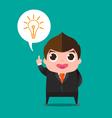 businessman figure out cartoon vector image vector image