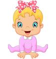 Cartoon happy baby girl vector image vector image