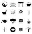 chinese icon set vector image