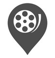 cinema roll marker flat icon vector image