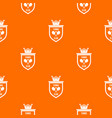 coat of arms of tennis club pattern seamless vector image vector image