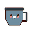 coffee mug cup kawaii cute cartoon vector image vector image