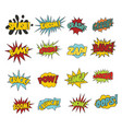 comic sound effect boobles set vector image vector image