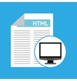 computer web development language vector image vector image