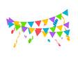 confetti background birthday concept vector image vector image