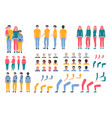 constructor animation kit family set creation kit vector image vector image