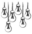 contour bulbs icon stock image vector image
