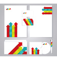 Corporate identity template with color arrows vector image vector image