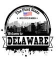 delaware stamp vector image