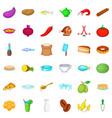 delicatessen icons set cartoon style vector image vector image