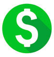 dollar or money icon of set material design style vector image