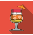 Drink design Cocktail icon Style glass vector image vector image