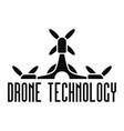 drone tech logo simple style vector image vector image
