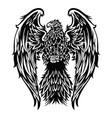 eagle wing annimal blue flag usa america vector image vector image