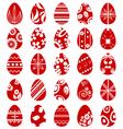 Easter egg symbol set vector image vector image