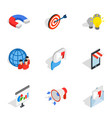 electronic commerce icons isometric 3d style vector image vector image