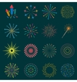 Firework icon set with petard stars Festival vector image vector image