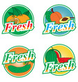 fruit and vegetables labels vector image