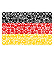 german flag mosaic of smile items vector image vector image