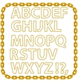 Gold Chain Alphabet Isolated vector image vector image