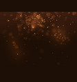 golden abstract luxury bokeh background light vector image vector image