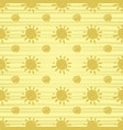 golden sun seamless pattern vector image vector image
