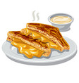 grilled cheese vector image