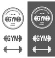 Gym Powerlifting vector image vector image