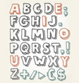 hand drawn abc elements vector image vector image