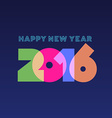 Happy new year 2016 greeting card design vector image