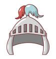 knight helmet security icon cartoon style vector image vector image