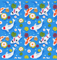 koi fish seamless pattern japanese carp in china vector image vector image
