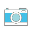 line color digital camera technology to focus vector image vector image