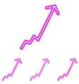 Magenta line business logo design set vector image vector image
