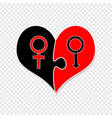 man and woman mars and venus sign sex symbols vector image vector image