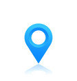 map pointer location icon blue pin on white vector image vector image