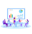 meetings training market analysis solution banner vector image vector image