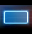 neon glowing blue frame on a modern background vector image