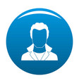 new man avatar icon blue vector image vector image