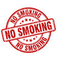 no smoking red grunge round vintage rubber stamp vector image vector image