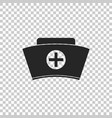 nurse hat with cross icon isolated vector image