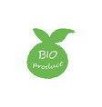 organic natural bio and farm fresh label and icon vector image