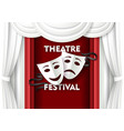 paper cut theater festival poster template vector image